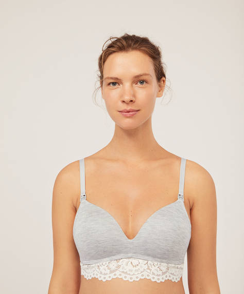 Non-wired modal maternity bra