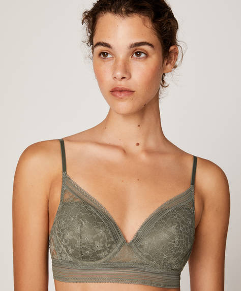 Reggiseno push-up pizzo con elastico