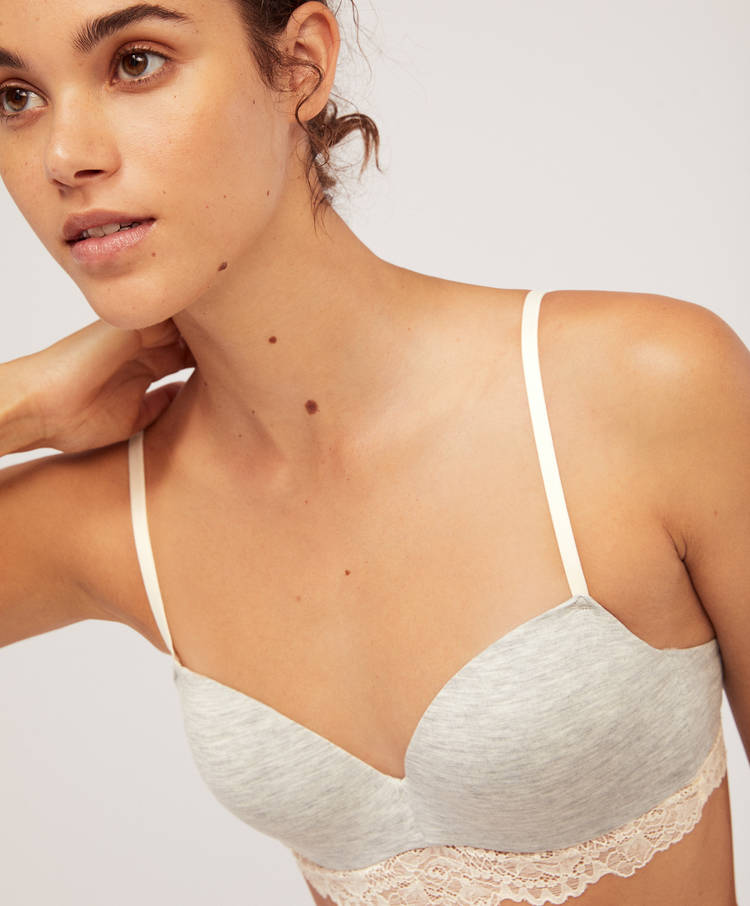 Modal Lace Bra With Light Padding by Oysho