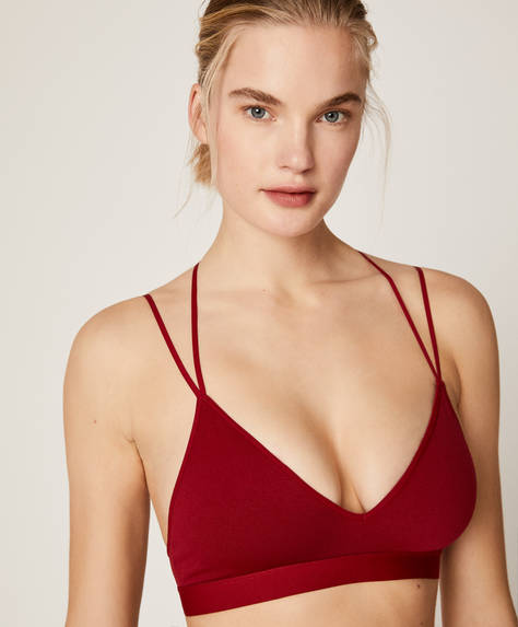 Seamless strappy bra