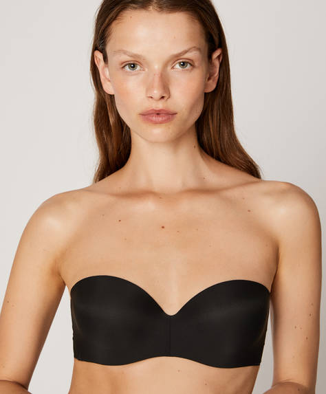 Non-wired push-up bra