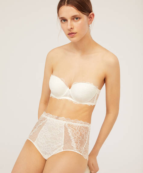 Soutien push-up de alças extraíveis Essential Lace