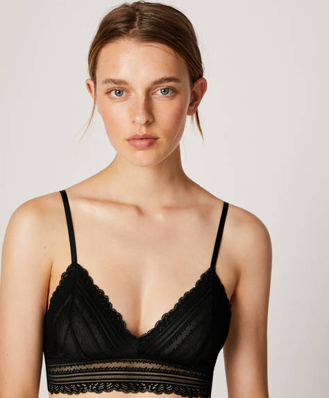 Geometric triangle bra