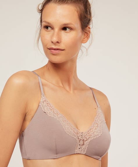 Comfort lace triangle bra