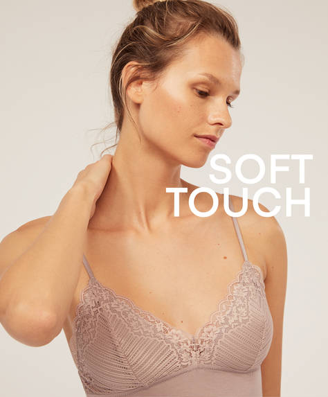 Fluorescent modal and lace slip top