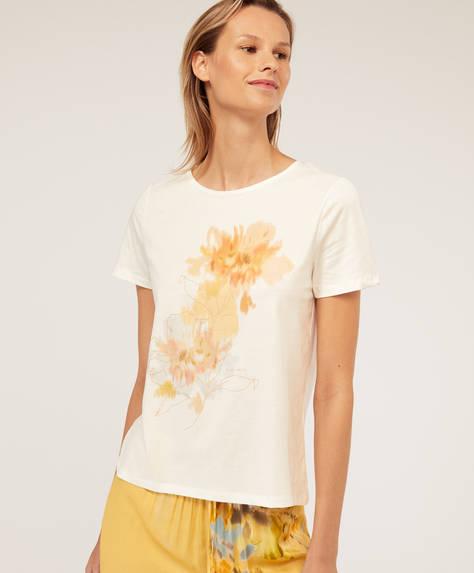 T-shirt manches courtes fleur