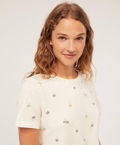 Tropical short-sleeved T-shirt
