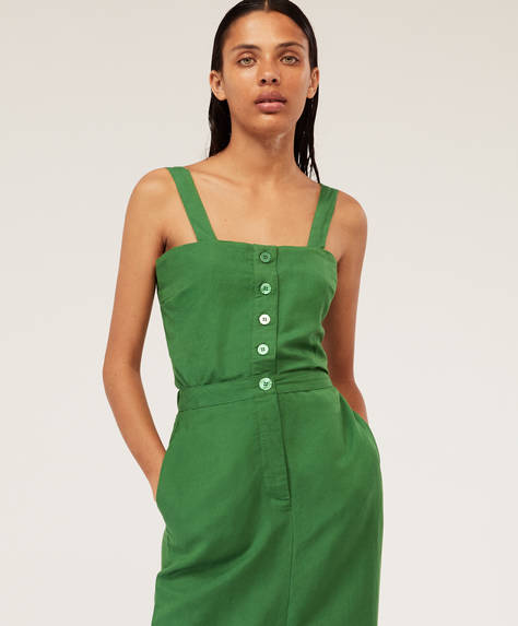Green top with buttons
