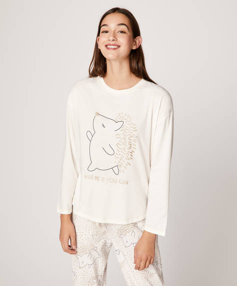 Long-sleeved hedgehog T-shirt