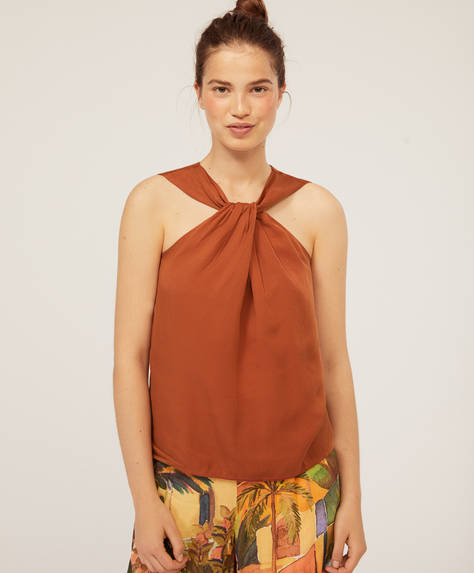 Tencel® halterneck top