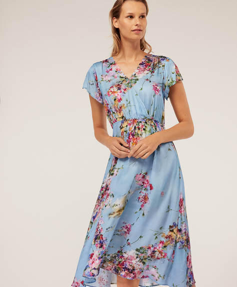 Blue petals nightdress