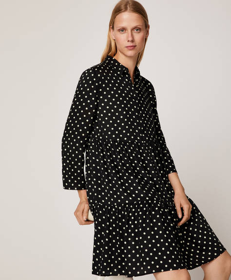 Short dotty nightdress