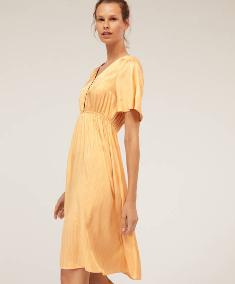 Yellow stripes nightdress