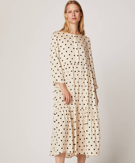 Long dotty nightdress