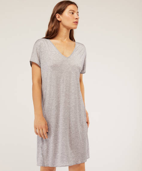 Short-sleeved Tencel® nightdress