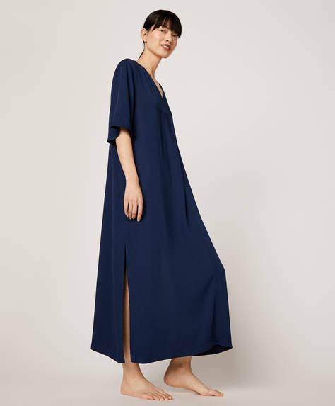 Plain blue nightdress