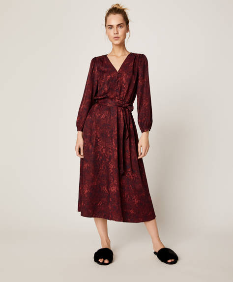 Snake print nightdress