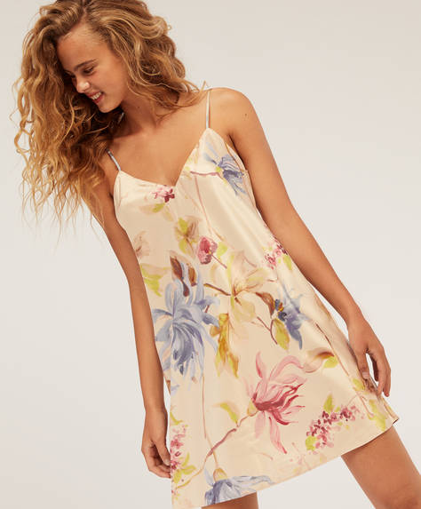 Floral satin nightdress