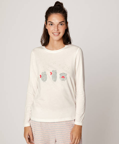 Long-sleeved mice T-shirt