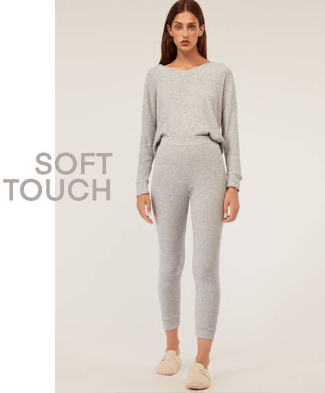 Ribbed soft touch leggings
