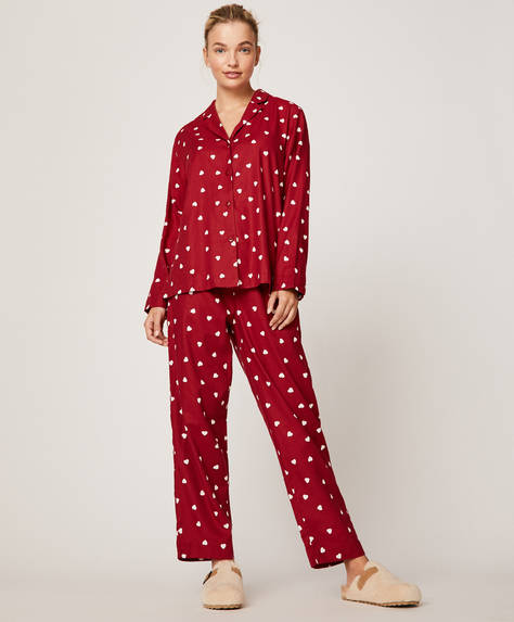 Red hearts trousers