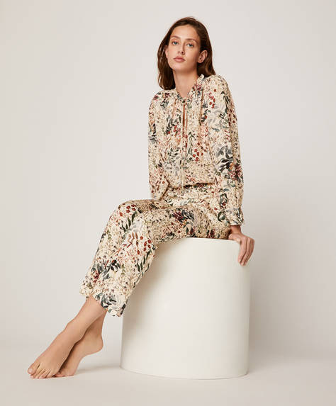 Subtle floral trousers