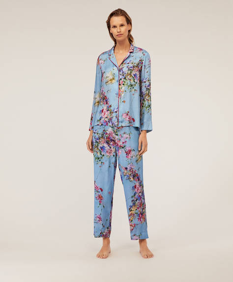 Blue petals trousers