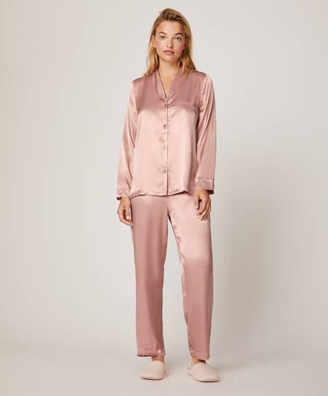 Pantalón liso rosa