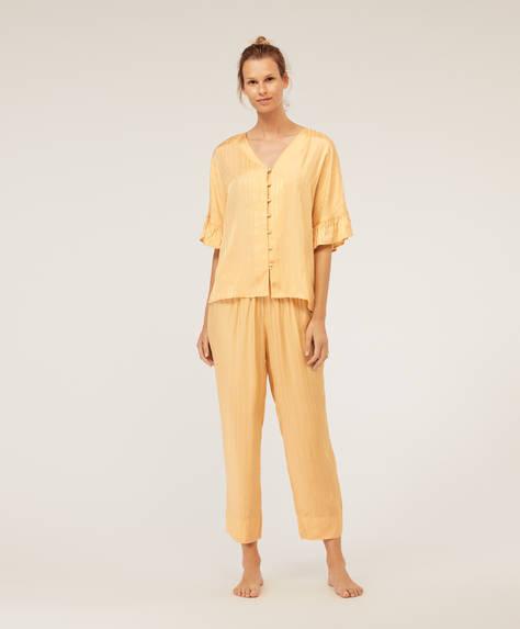 Pantalon rayé jaune