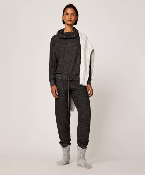 Lange Hose aus extra weichem Stoff