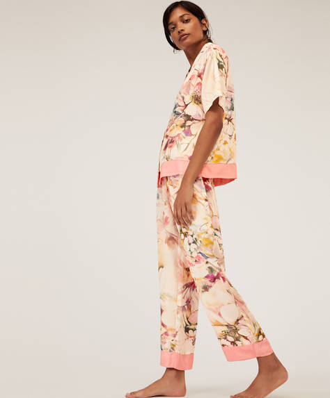Multicolour floral trousers