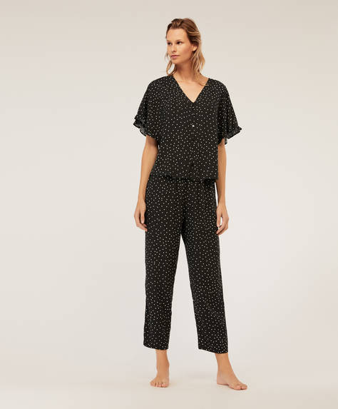 Black dotty trousers