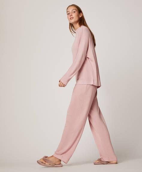 Ροζ απαλό παντελόνι