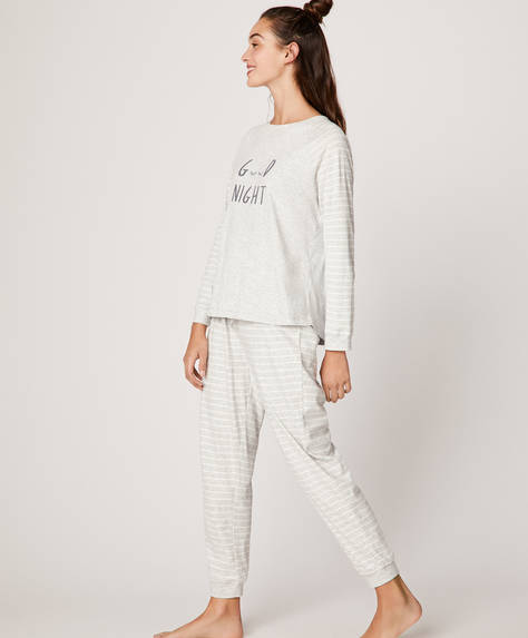 "Striped ""Good Night"" trousers"