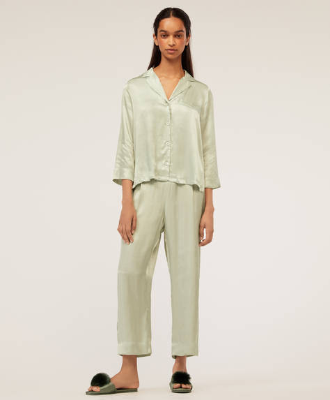Aqua green trousers