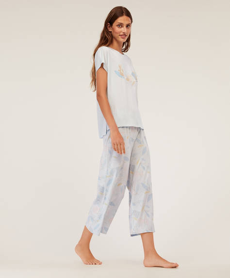 Floral outline trousers