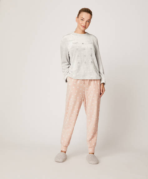 Pink hearts trousers