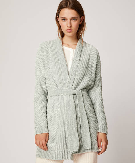Soft touch chenille jacket