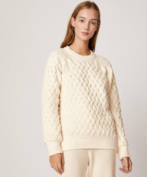 Structured chenille jumper