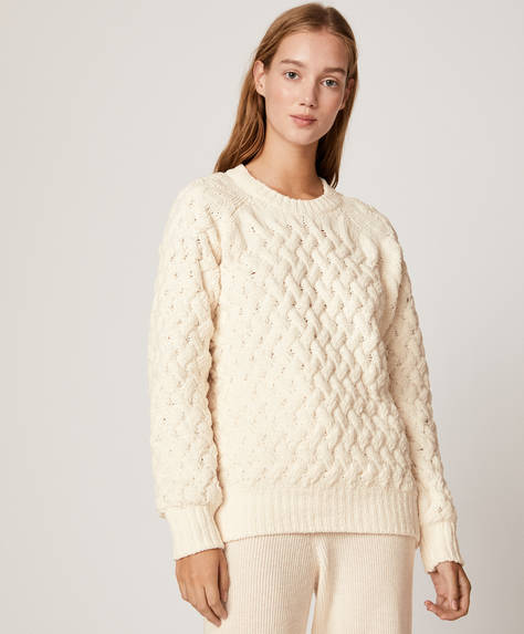 Structured chenille jumper