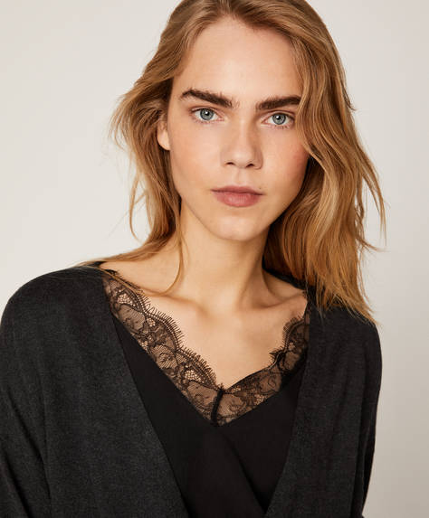 Lace wrap jumper