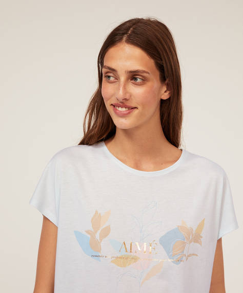 Floral outline T-shirt