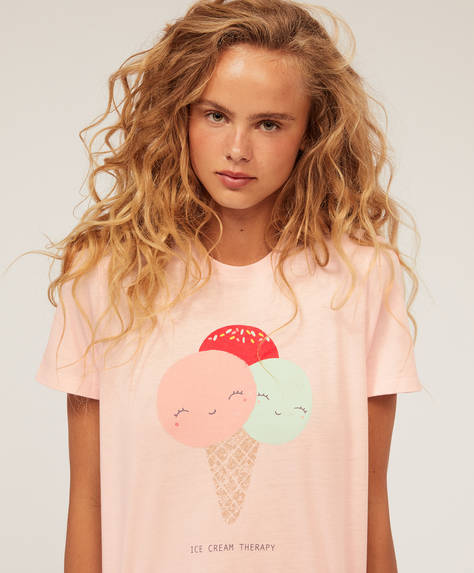 Ice cream cone short-sleeved T-shirt