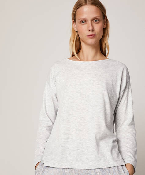 Blue cashmere T-shirt