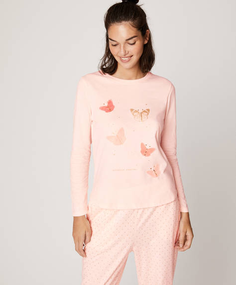 Long-sleeved butterflies T-shirt