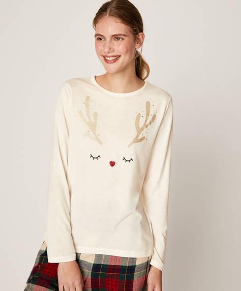 Long reindeer T-shirt