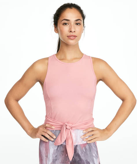 Cotton pink knot T-shirt