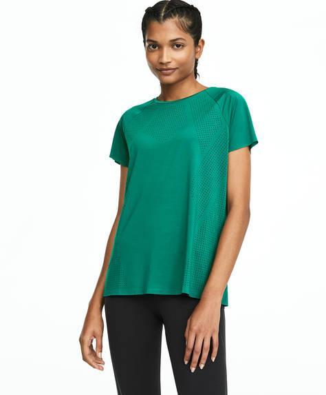 Groen T-shirt met lasercut