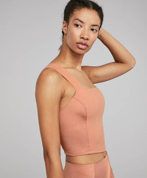Shine block shapewear top