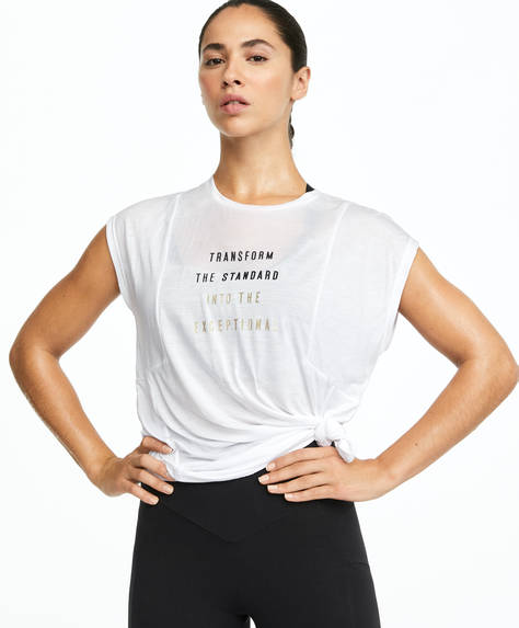 T-shirt avec inscription en TENCEL™